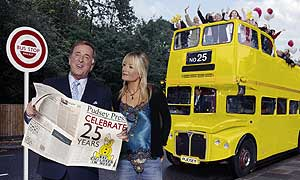 Terry Wogan and Gaby Roslin