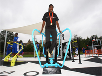 Beijing 400 metre Gold Medallist, Christine Ohuruogu at the opening of the first adiZone