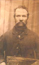 Old mugshot style photograph from Victorian Birmingham police forces collection