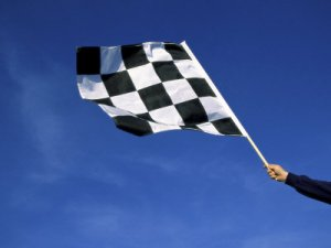 Image of a chequered flag
