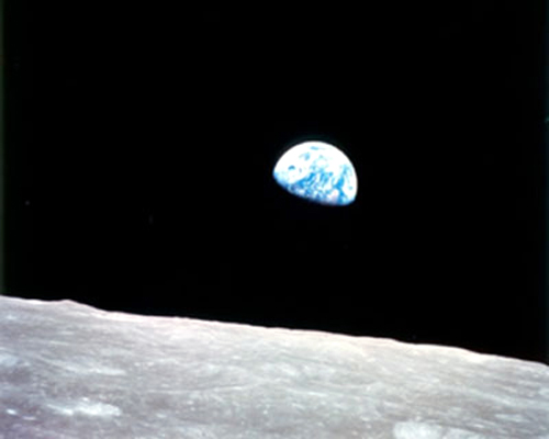 Earthrise Apollo 8 Lunar mission 1968