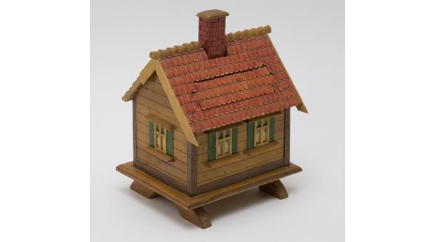 Model house made by a German prisoner of war © Somerset County Council Heritage Service