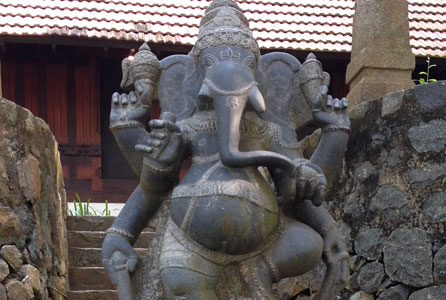 A statue of the Hindu god Ganesh