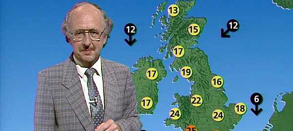 Michael Fish presenting the weather