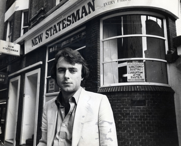Christopher Hitchens, 1949-2011. Pictured outside the New Statesman in 1978.