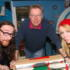 Chris and Helen from Los join Tom for a game of table football