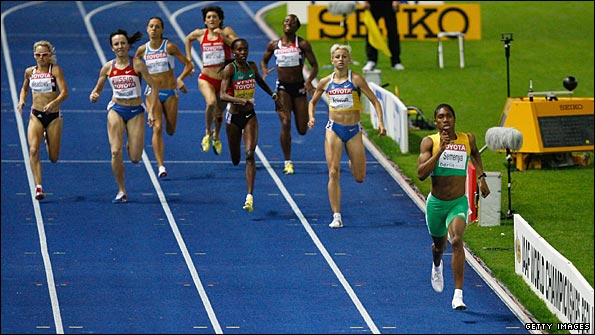 Semenya left her rivals trailing