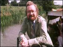 Presenter Barry Paine on the Kennet & Avon Canal