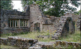 the ruins of Wycollar Hall