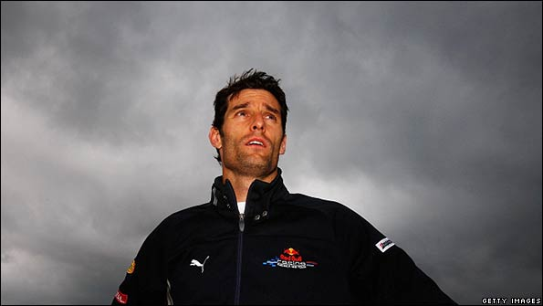 Mark Webber relaxes after his win in Germany