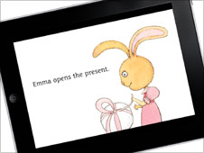 Screengrab of childrens' book on Apple iPad