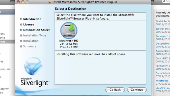 plugin microsoft silverlight sur freebox
