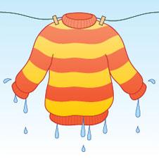 Image of a soaken woolly jumper