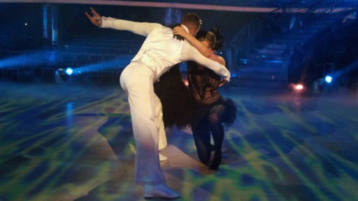 Holly and Artem rehearsing