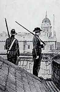 Image of soldiers on the roof of Liberty Hall