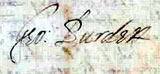 Image of George Burdett's signature