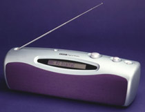A photo of a modern style radio.