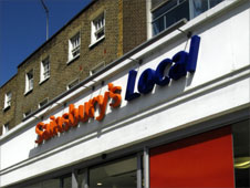 A Sainsbury's Local store in London, 01/06/2003