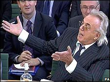 Peter Stringfellow speaks to the Commons culture committee (November 2008)