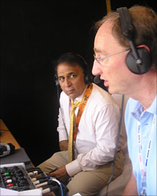 India legend Sunil Gavaskar joins Jonathan Agnew on Test Match Special for the World Cup final