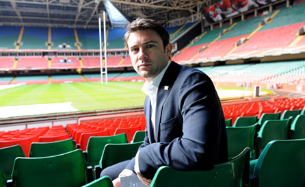 Owen Sheers in the Millennium Stadium. Photo: Huw Evans Picture Agency