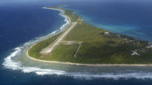 Rongelap Island, part of the Marshall Islands, which was showered with radioactive fallout in March 1954