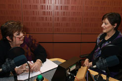 Sharon Shoesmith and Jenni in the Woman's Hour studio