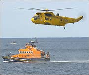 Whitby lifeboat on exercise