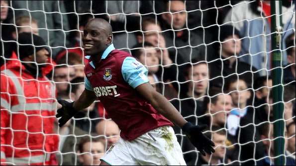 Demba Ba scores for West Ham