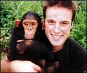 Monkeying about - Nick Baker and friend