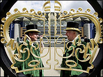 The gates at Ascot Racecourse