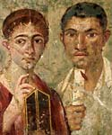 Image of a fresco portrait of Terentius Neo and his wife
