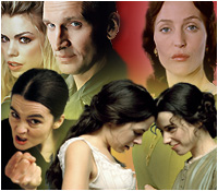 Billie Piper as Rose and Christopher Eccleston as The Doctor in 'Doctor Who'; Gillian Anderson as Lady Dedlock in 'Bleak House'; Shirley Henderson as Kate in 'ShakespeaRe-Told: The Taming Of The Shrew'; Elaine Cassidy as Maud Lilly and Sally Hawkins as Sue Trinder in 'Fingersmith'