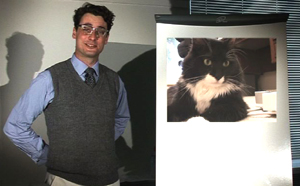 The Teacher and a cat