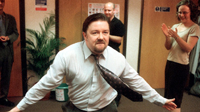 David Brent is dancing