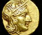Rare gold stater of Athens
