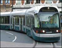 the tram in action