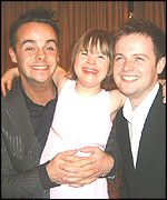 Chloe Bell with Ant and Dec