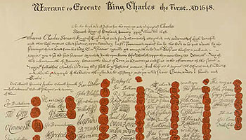 The warrant for the execution of Charles I, 30 January 1649