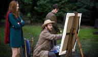 The Eleventh Doctor and Amy with Vincent Van Gogh