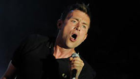 Blur frontman Damon Albarn at Glastonbury 2009