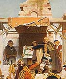 Image of Alfred rebuilding London in 886