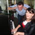 Jodie 'impresses' her boyfriend Simon with her piano playing...