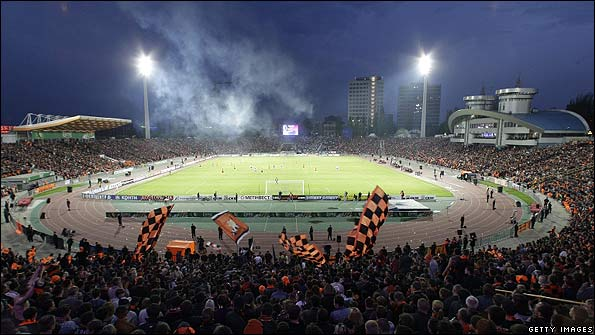 The RSC Olimpiysky Stadium in Donetsk