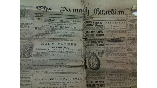 Copy of The Armagh Guardian, 1891