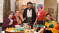 Paula Wilcox, Shaun Dingwall, Phil Daniels, Kellie Bright and James Buckley star in Rock & Chips