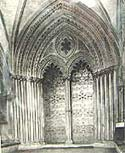 Image of the porch to the Galilee chapel at Ely Cathedral