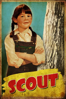 Scout is 6 years old at the start of the story, is intelligent and a tomboy.