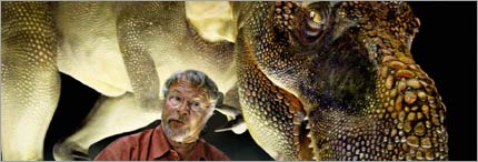 Bill Oddie and T. rex