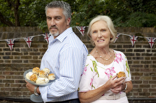 Mary Berry with fellow judge Paul Hollywood